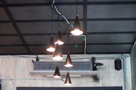 triangular: Lamps triangular roof Stock Photo