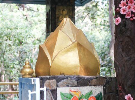 lotus temple: Golden Lotus Temple  in thailand