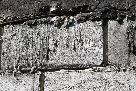 textured wall: old mortar of house background