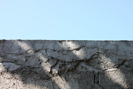 textured wall: Background old mortar Crack the Sky