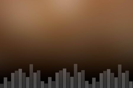 vibrations: black coffee sound bar background Stock Photo