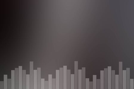 Abstract black and gray sound bar background.
