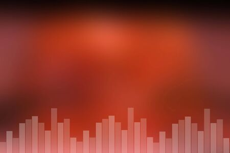 soundtrack: Colorful red abstract sound bar background
