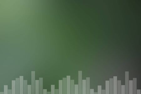 riff: green sound bar background