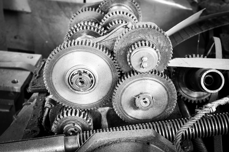 Reduction gear drive mechanism of the machine tool photo