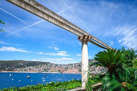 villefranche sur mer: Column at the Villa Ephrussi de Rothschild in France