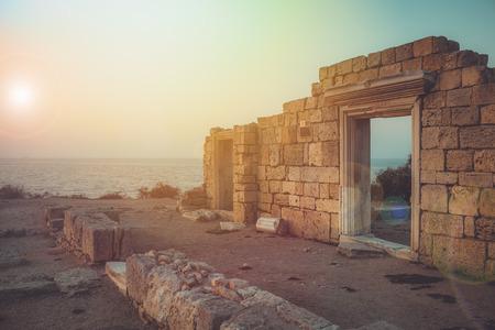 Basilica on the southwest coast of the Crimea in the setting sun Фото со стока