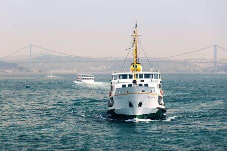passenger ships: Passenger ships in the Strait of Bosporus in Istanbul