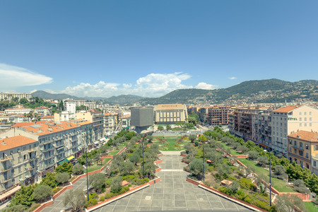 congress center: Views of the multimedia center and congress center in Nice Stock Photo