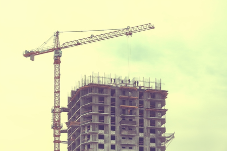 residential construction: Construction of residential house