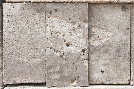 porosity: Background image in the form of concrete blocks