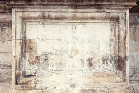 deepening: Background in the form of marble panels on the wall