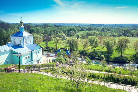 Church of Our Lady of the Life-Giving Spring in the Kursk Root Hermitage Region, Russia Stock Photo