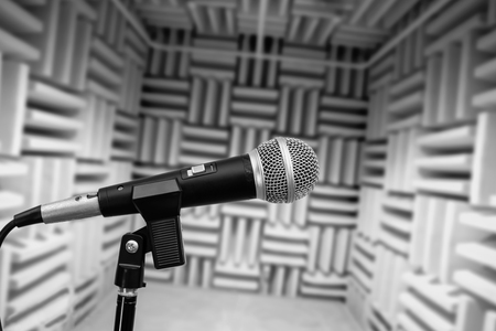 Microphone In Vocal Booth Recording Studio Photo