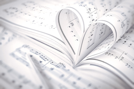 hymn: heart music notes, music background