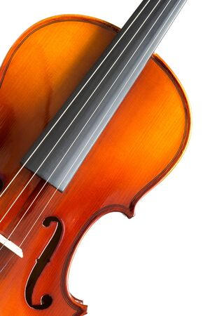 cellos: part of violin, isolated on white