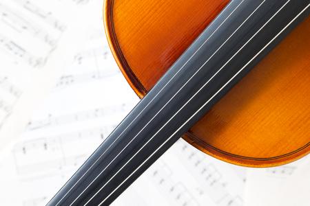 musical score: violin on music sheet Stock Photo