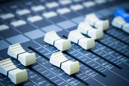 sound mixer fader, music background