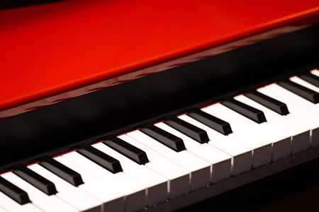 red grand piano, music background