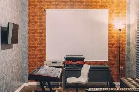 sound studio in modern loft interior design concept