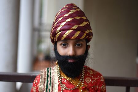 Indian Boy as shivaji maharaja