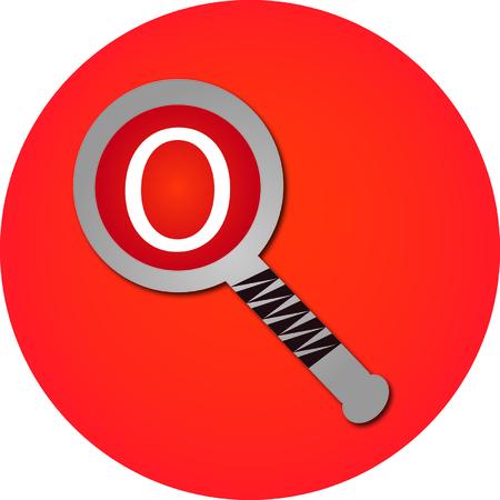 search O Иллюстрация