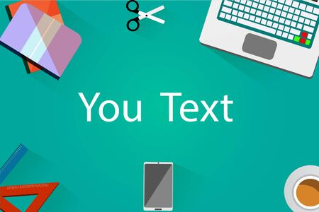 Banner for web present cyan background. Vector