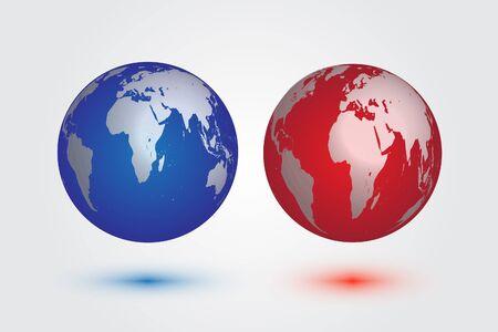 realist: Earth four color vector EPS10.