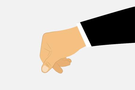 avarice: Male business hand. Illustration