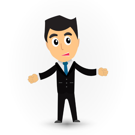 beatific: Business man cartoon vector.