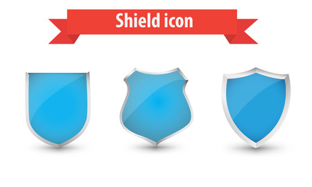 ecoration: shield icons vector Illustration