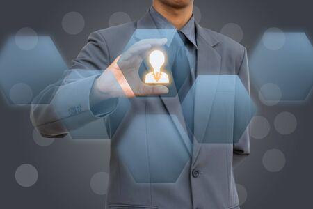 Business man selecteren menselijk begrip