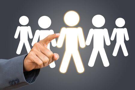 Zakenman selecteren Keuze HR
