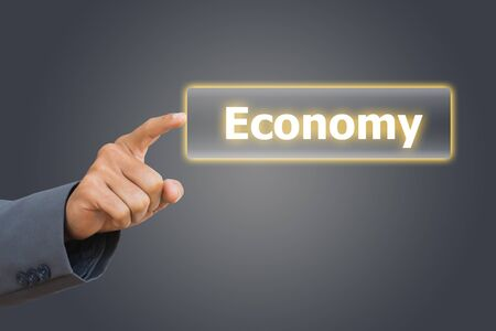 Zakenman selecteren Keuze Economy.