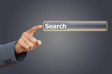 Zakenman uitgezocht Keuze zoeken Stockfoto