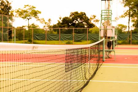 Tennisbaan.