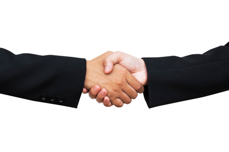 Zakelijke handdruk twee mensen Stockfoto