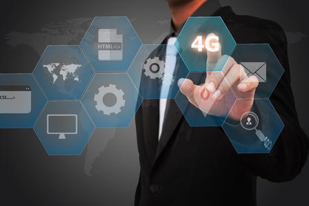 Sjabloon zakenman select icon 5G.