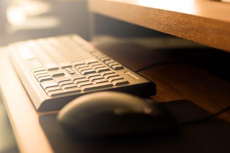 Computer zwart toetsenbord.