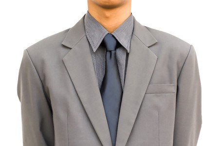 Suit jacket Close-up witte achtergrond.