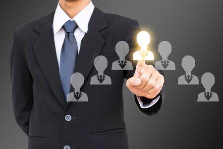 mensen uit het bedrijfsleven man selecte netwerkgroep.