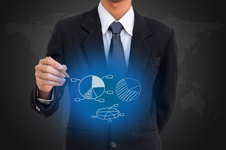 Business man select network group . Stockfoto