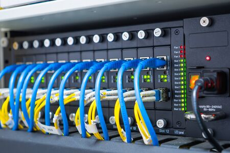 Cables And  Network With Cable Lan Rj45.