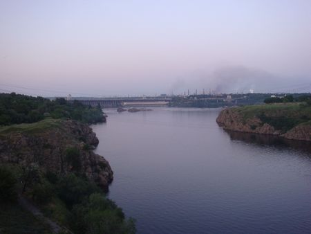 The Zaporozhye HYDROELECTRIC POWER STATION photo