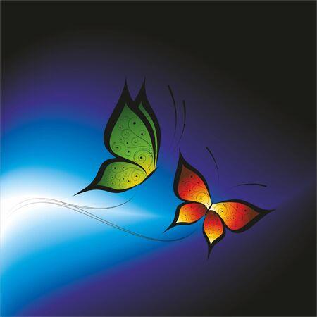 Butterfly. Vector illustration. Stock Vector - 10648541