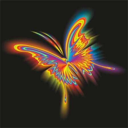 peacock butterfly: Abstract butterfly. Vector.