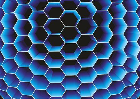 Honeycomb. Vector.  Illustration