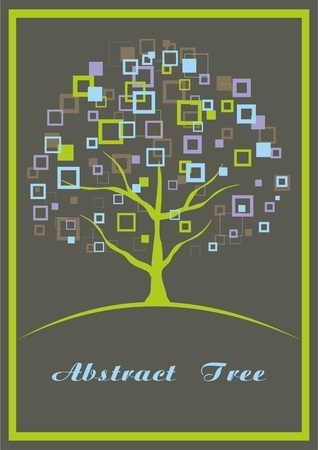 Abstract tree. A vector illustration with a place for your text.