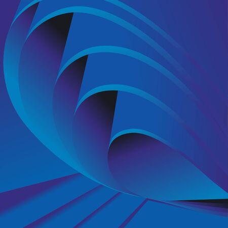 Folds of blue paper or cloth. Vector background. Illustration