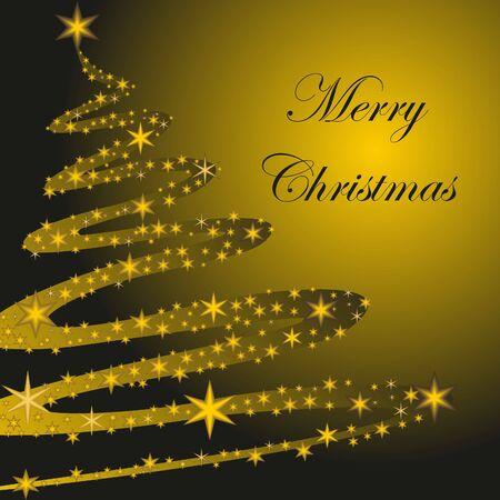 Abstract Christmas tree with stars. Christmas. Vector illustration. Stock Vector - 10780498